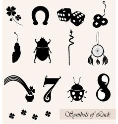 luck symbols set vector image