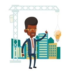 Man having business idea vector