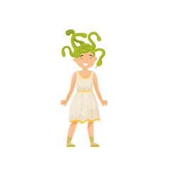 medusa gorgon mythical creature element of greek vector image