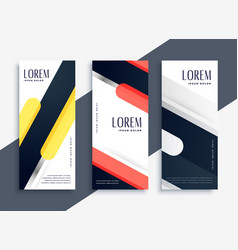 Modern abstract set of geometric banners vector