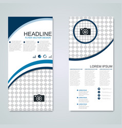 Modern roll-up business banners template vector