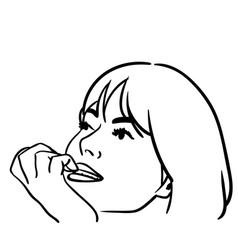 Nail biting vector