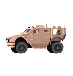 nursery military car drawing army truck vector image