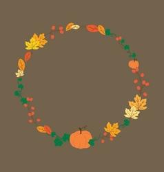 October Wreath vector image