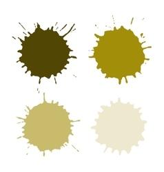 Paint Spots Or Blots vector