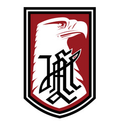 Patch with image eagle division vector