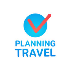 planning travel icon isolated vacation route vector image