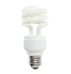 powersave lamp on white background vector image