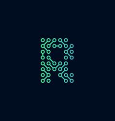R circuit technology letter logo icon design vector