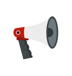red and white bullhorn public megaphone icon vector image
