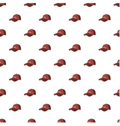 Red baseball hat pattern vector