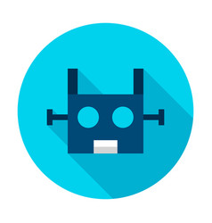 robotics circle icon vector image