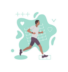 running man fashion abstract composition vector image