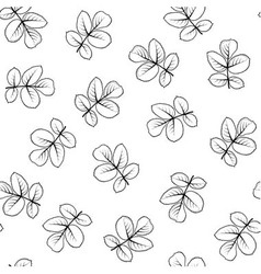 Seamless pattern made from graphic rose leaves vector image