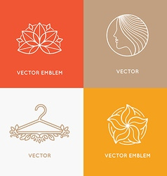 Set logo design templates and emblems vector