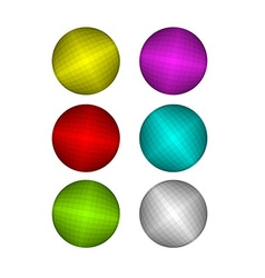 Set of Colorful disco ball Pink and Red disco ball vector