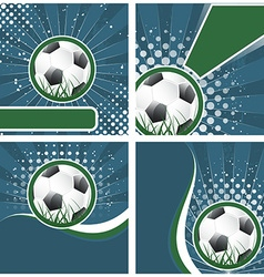set soccer background in retro style vector image