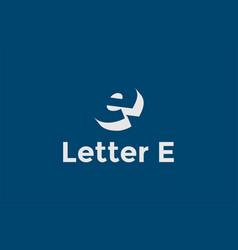 simple minimalist modern initial letter e logo vector image