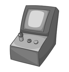 Slot machine icon black monochrome style vector image