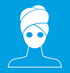 Spa facial clay mask icon white vector