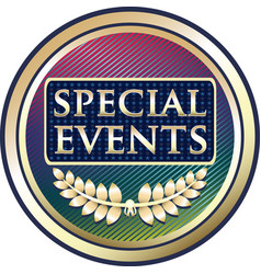 special events icon vector image