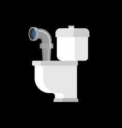 submarine from toilet periscope in wc vector image