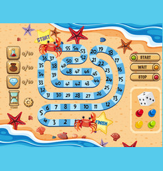 summer beach game template vector image