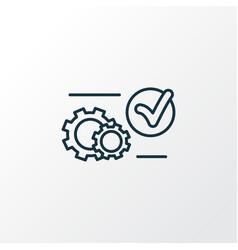 System preferences icon line symbol premium vector