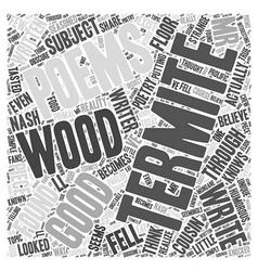 Termite Poems Word Cloud Concept vector image