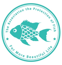 The association for protection fish vector