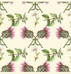 Thistle pattern vector image