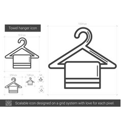 Towel hanger line icon vector