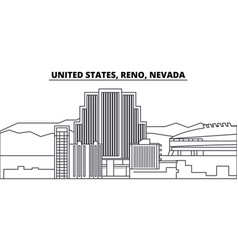 United states reno nevada line skyline vector