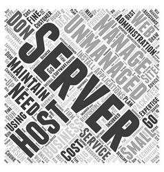 Using unmanaged host services word cloud concept vector