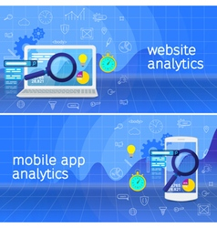 Website analytics search information vector image