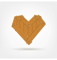 Wooden Boards Heart Shape vector image