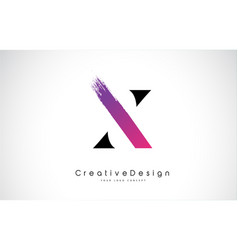x letter logo design with creative pink purple vector image