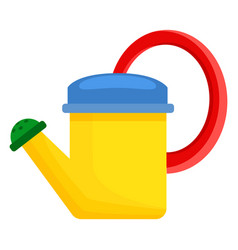 yellow toy watering can for children vector image