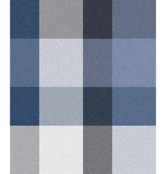 blue check fabric vector image vector image