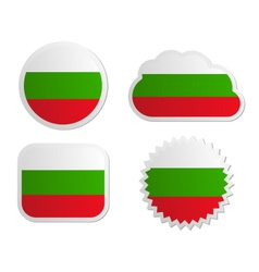Bulgaria flag labels vector image vector image