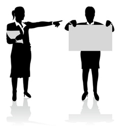 business people pointing vector image vector image