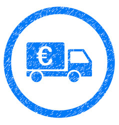 euro collector car rounded icon rubber stamp vector image vector image