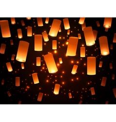 Paper Lantern Fairy-Lights vector image