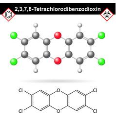 2378- dibenzodioxin - widespread environmental vector image vector image