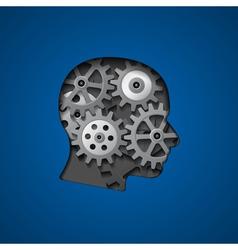 brain gears 3 vector image vector image