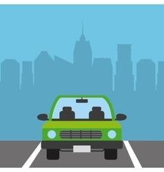car vehicle icon vector image