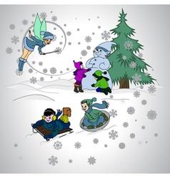 Children holidays vector