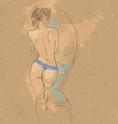 women in blue lingerie vector image
