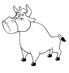 Bull vector image vector image