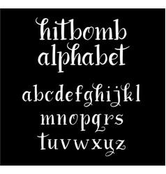 hitbomb alphabet typography vector image vector image